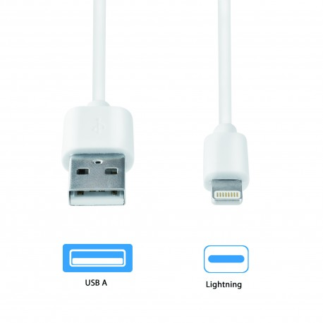 2Connect Lightning to USB Charging Cable 1m White